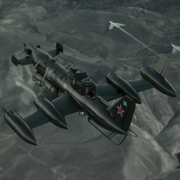 Be-15 escorted by two MiG-15s over Mongolia