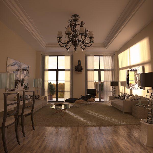 Lounge room - dusk